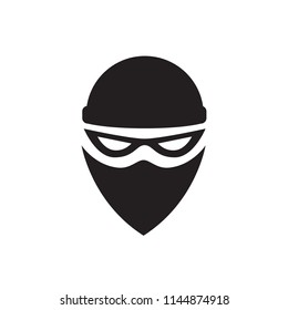 Abstract Sign of the Black Bandit
