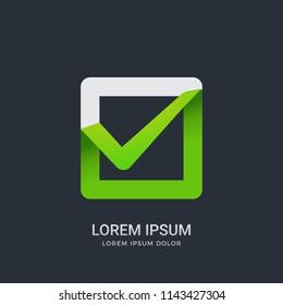 Abstract sign of Green check box