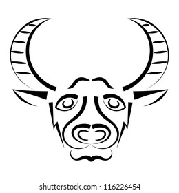 Abstract silhouette of a bull's head. eps10