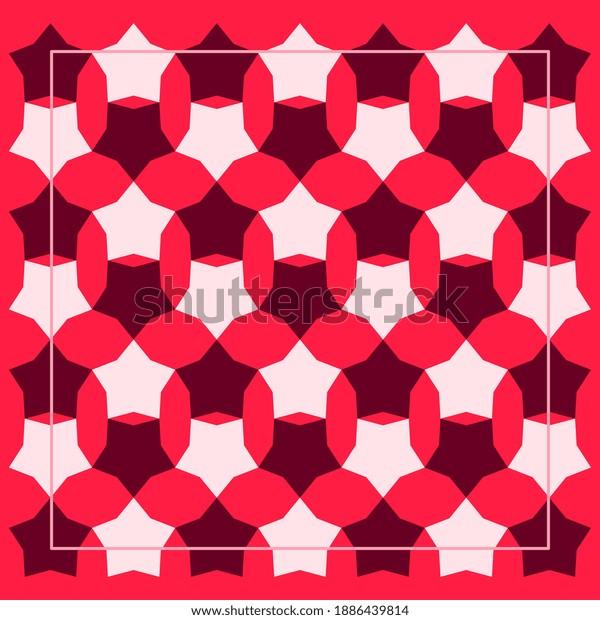 Abstract silk scarf pattern. Hijab design