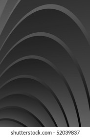 Abstract silver vector arcs