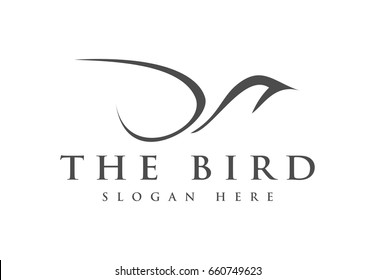 Abstract Simple Bird with minimalist style logo for your business