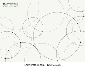 Abstract simple black circle connection futuristic background. You can use for technology connection ad, poster, cover artwork design, report. vector eps10