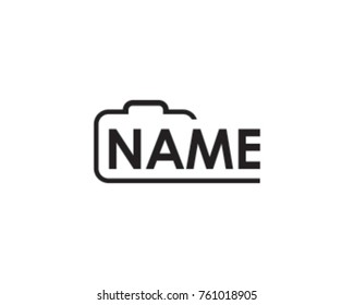 Abstract Simple Camera for photography logo
