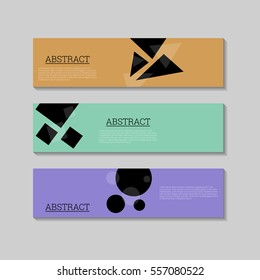 Abstract simple dark geometric shapes background banners design template. Illustration, Vector eps10.