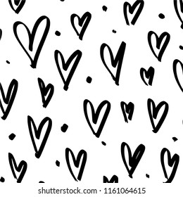 Abstract simple grunge pattern, brush strokes, scribble. Universal design, wall art. Vector, clipart.
