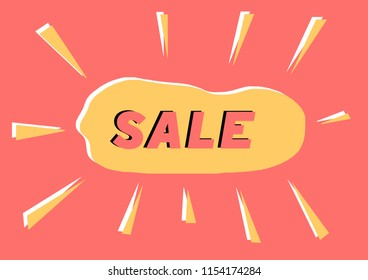 Abstract and simple SALE vector label