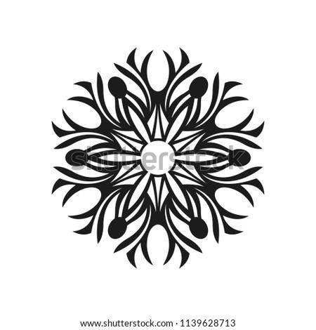 Abstract Simple Tribal Sign Graphic Tattoo Stock Vektorgrafik