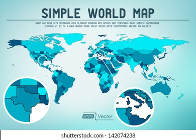 Abstract simple world map - EPS10 vector design