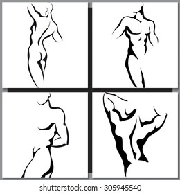 Abstract Male Body Art