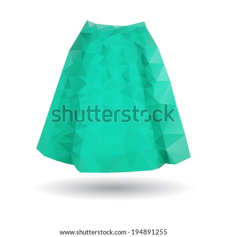 Abstract Skirt Origami Style Stock Vector Royalty Free 194891255