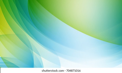 Abstract Sky Blue and Green gradient curve background