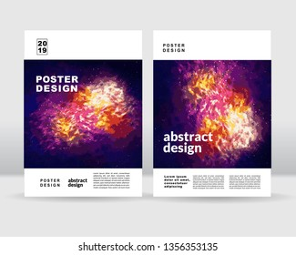 Abstract sky poster template