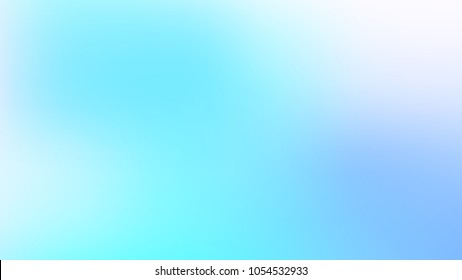 Abstract Skyblue and White Gradient blurred vector background.