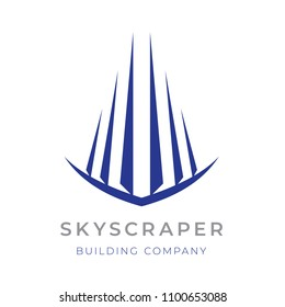 Abstract skycraper sign for ypur project