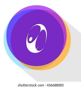 abstract skydiver. Internet template. Vector icon.