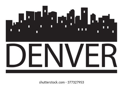 Abstract skyline Denver, with various landmarks, vector illustration