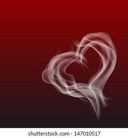 abstract smoke heart symbol