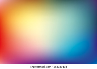 Abstract smooth background, rainbow mesh gradient, pattern for you presentation, blurred vector design wallpaper
