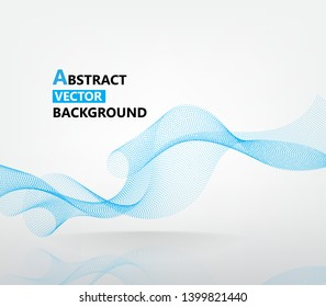 abstract smooth dot line vector background template