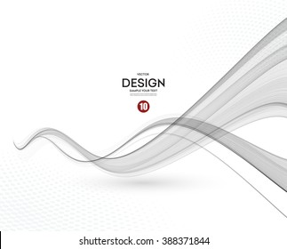 Abstract Blue Grey Waves On White Background Stock Vectors