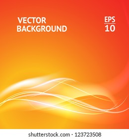 Abstract smooth horizontal background lines for your text. Vector Illustration.