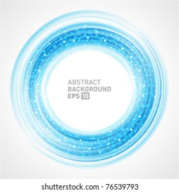 Abstract smooth light circle vector background. Eps 10.