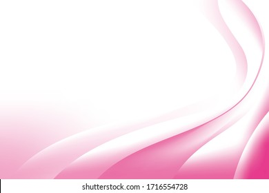 Abstract Smooth Pink White Wave Gradient Background Design Template Vector