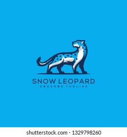 Abstract Snow Leopard Design Concept illustration vector template. Suitable for Creative Industry, Multimedia, entertainment, Educations, Shop, and any related business