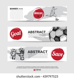 Abstract soccer( football ) banner.Illustration eps 10