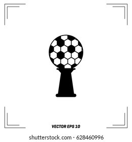 Abstract Soccer Trophy Vector Illustration