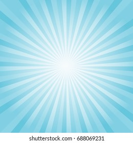 Abstract soft Blue rays background. Vector EPS 10, cmyk.