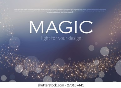 Abstract soft bokeh background. Vector illustration