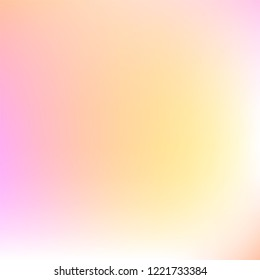 Abstract soft color background.  Soft color gradient illustration for graphic display design. Modern smooth texture vector design.  Pastel orange multicolor gradient wallpaper. Light airy abstraction.