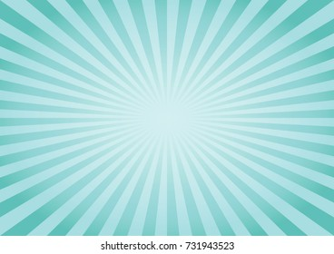 Abstract soft Green Blue rays background. Vector EPS 10, cmyk