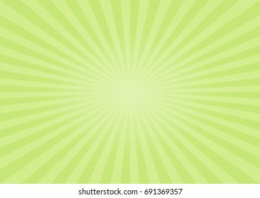 Abstract soft Green rays background. Vector EPS 10, cmyk.
