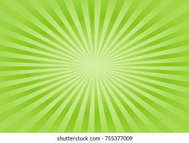 Abstract soft Green rays background. Vector EPS 10, cmyk