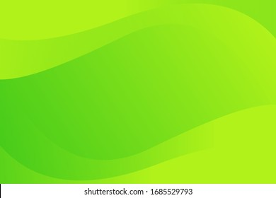 Abstract Soft Green Yellow Wave Background Design Template Vector