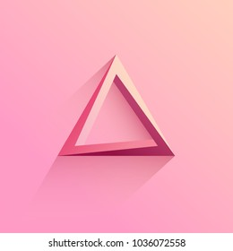 Abstract Soft Pink Logo Triangle ,Vector illustration.