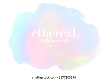 abstract soft vector ethereal water color clouds. light multicolor pastel ink stain on white background. eps 8