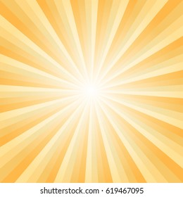 Abstract soft Yellow rays background. Vector EPS 10, cmyk.