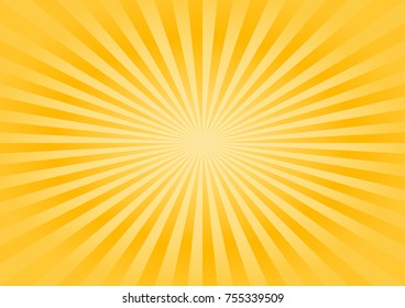 Abstract soft Yellow rays background. Vector EPS 10, cmyk