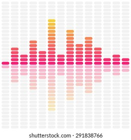 Abstract sound waves equalizer. Audio pulse music design. Vector illustration