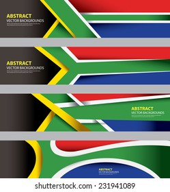 Abstract South African Flag, South Africa Modern Art, Info graphics Template, based on S.African Flag Colors (Vector Art)