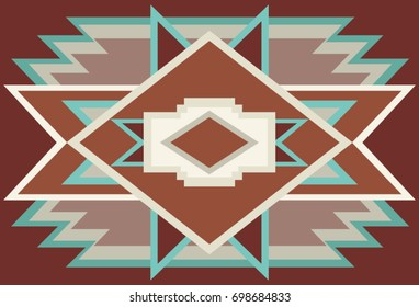 Abstract Southwest Native Background Red 1