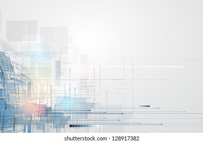 abstract space circuit cyber high technology business banner