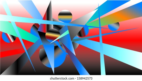 Abstract Space Clutter