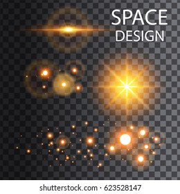 abstract space shine with circle llustration vector design
