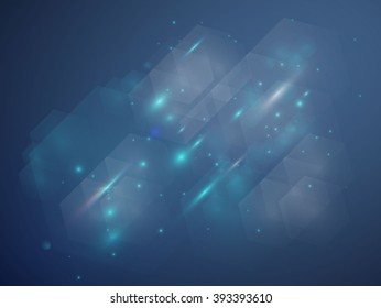 Abstract space soft blue light line graphic future background design vector