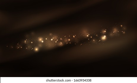 Abstract sparkle stars in the universe background